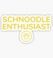 Schnoodle Enthusiast Sticker