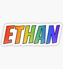 """ETHAN"" First Name Rainbow Gradient Pattern Sticker"
