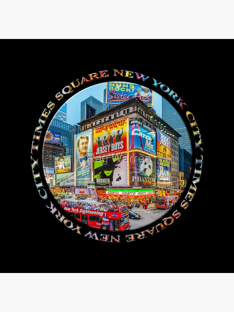 Times Square New York City Grand Badge Emblem (on black) by RayW