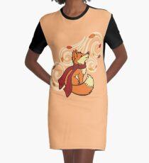 Autumn Fox Graphic T-Shirt Dress