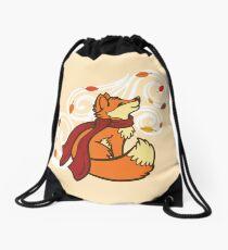 Autumn Fox Drawstring Bag