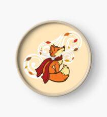 Autumn Fox Clock