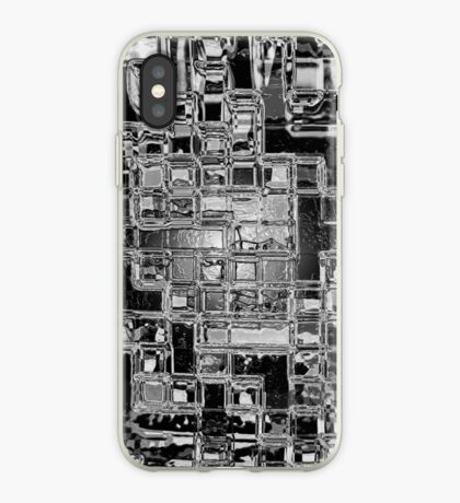 Glass Bricks With Shattered Ice Background - iPhone Case iPhone Case