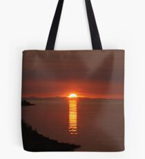 Sunset over Vancouver Island Tote Bag