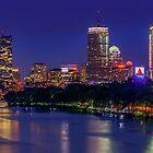 Rising Full Moon in Boston city by LudaNayvelt