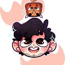 Mark and his Little Biscuit  by darkmagicswh