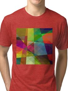 Colorful Geometric Abstract Pattern Tri-blend T-Shirt