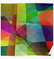 Colorful Geometric Abstract Pattern Poster