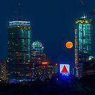 Rising Full Moon in Boston city 2 by LudaNayvelt