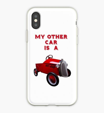 My Other Car Is A  Hot Rod (on white) - iPhone Case iPhone Case