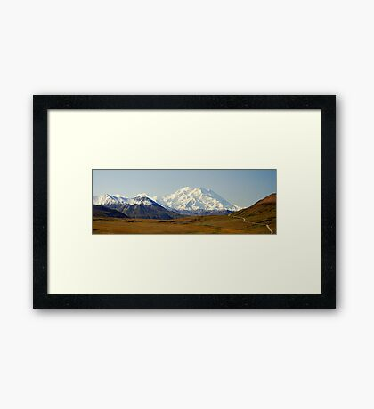 The Road to McKinley Framed Print
