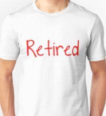 Camiseta ajustada Retirado No es mi problema Más la divertida idea de regalo Divertido regalo de la jubilación
