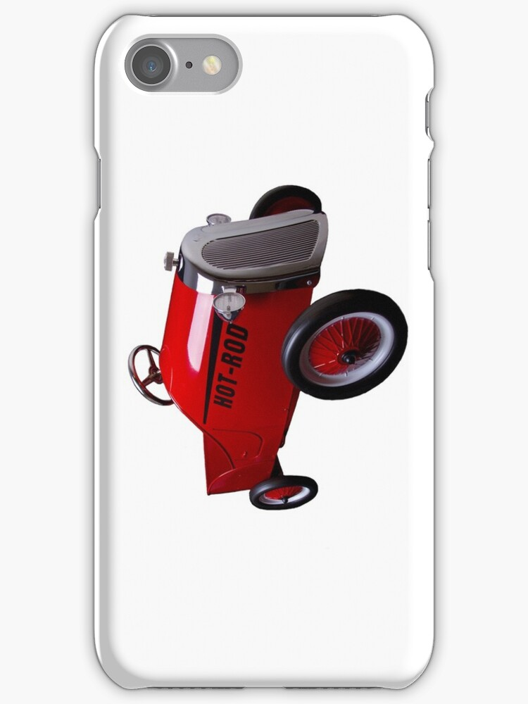 Hot Rod (on white) - iPhone Case by Bryan Freeman