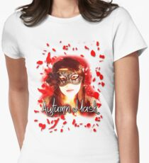 Autumn Mask Women's Fitted T-Shirt