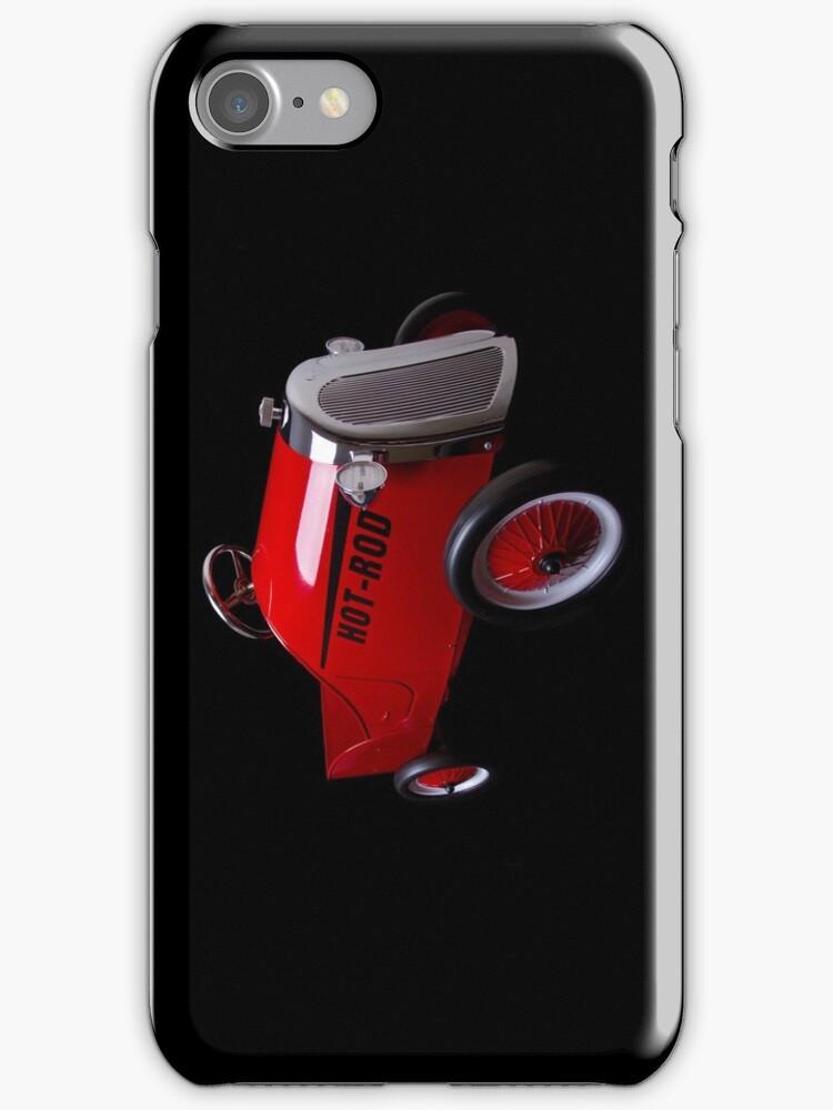 Hot Rod (on black) - iPhone Case by Bryan Freeman