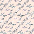 Pastel Koi Fish Pattern by 2HivelysArt