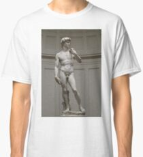 David by Michelangelo, #David, #Michelangelo, #DavidbyMichelangelo, #masterpiece, #Renaissance, #sculpture, #marble,  #statue, #standing, #male, #nude, #Biblical, #hero, #favoured, #art, #Florence Classic T-Shirt