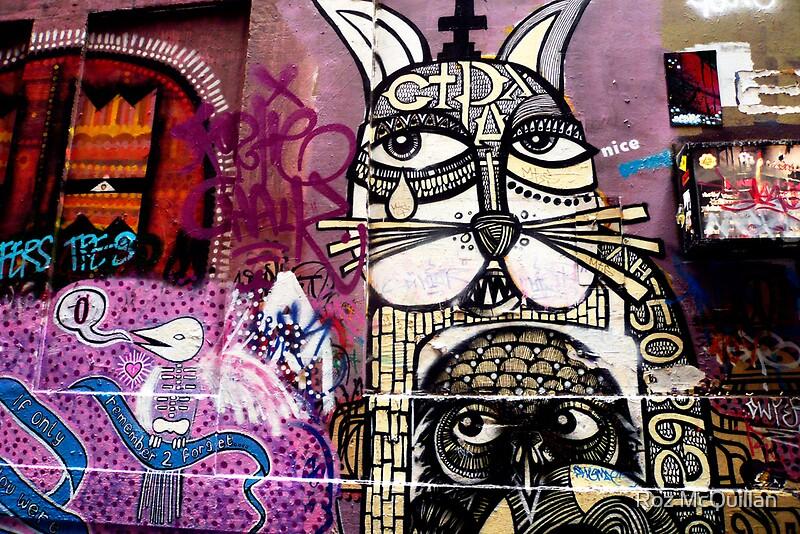 Quot Cat Graffiti Quot By Roz Mcquillan Redbubble