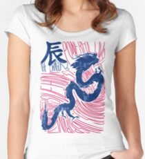 The Dragon Chinese Zodiac Sign Women's Fitted Scoop T-Shirt