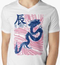 The Dragon Chinese Zodiac Sign Men's V-Neck T-Shirt