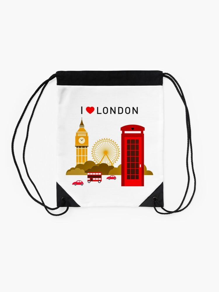 Alternative Ansicht von Ich liebe London Turnbeutel