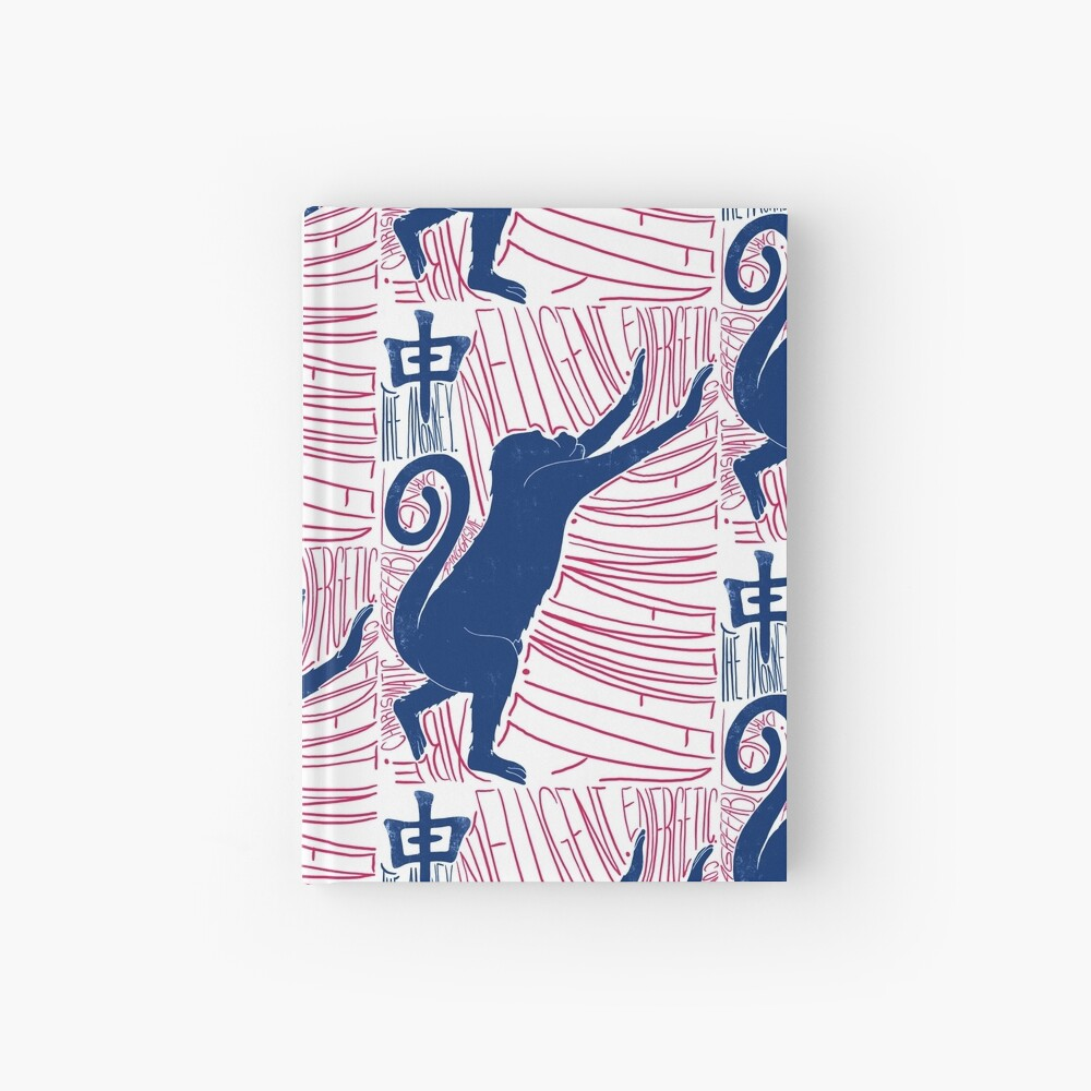 The Monkey Chinese Zodiac Sign Hardcover Journal