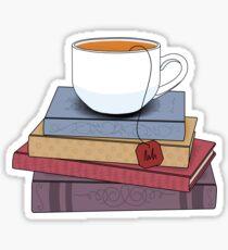 Tea and books  Sticker
