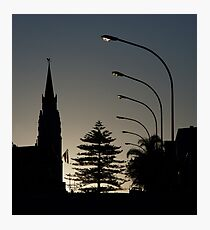 Small-town silhouette Photographic Print