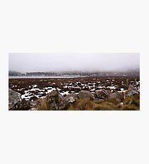 Snow on the lake Photographic Print