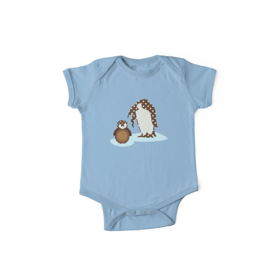 Father and Baby Penguin by Janet Antepara