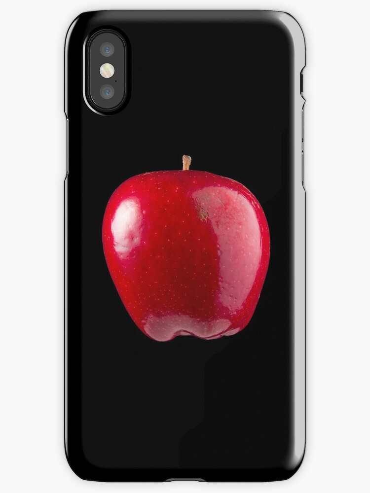 Red Apple (on black) for the Apple iPhone Cover! by Bryan Freeman