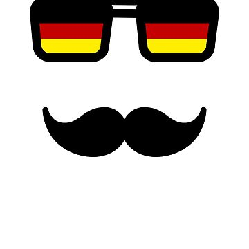 Germany Flag Sunglasses Mustache by maxarus