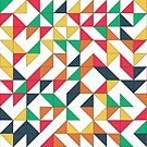 Abstract pattern with colored triangle by swisscreation