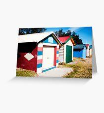 Dromana Boat houses Greeting Card