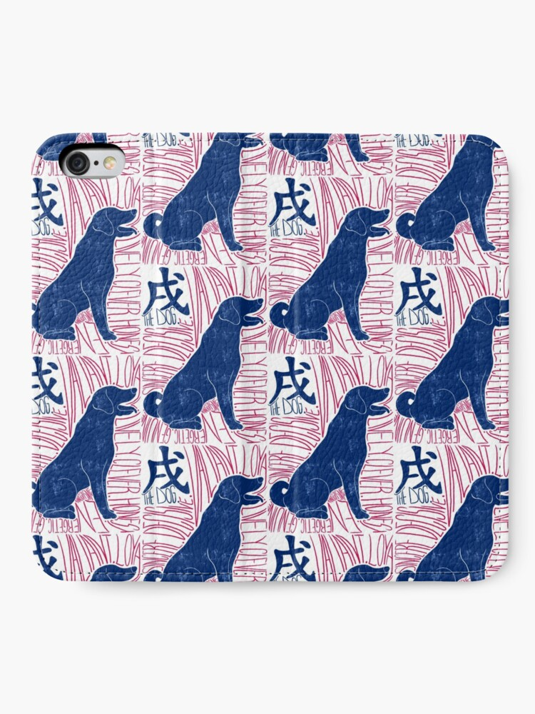 Alternate view of The Dog Chinese Zodiac Sign iPhone Wallet