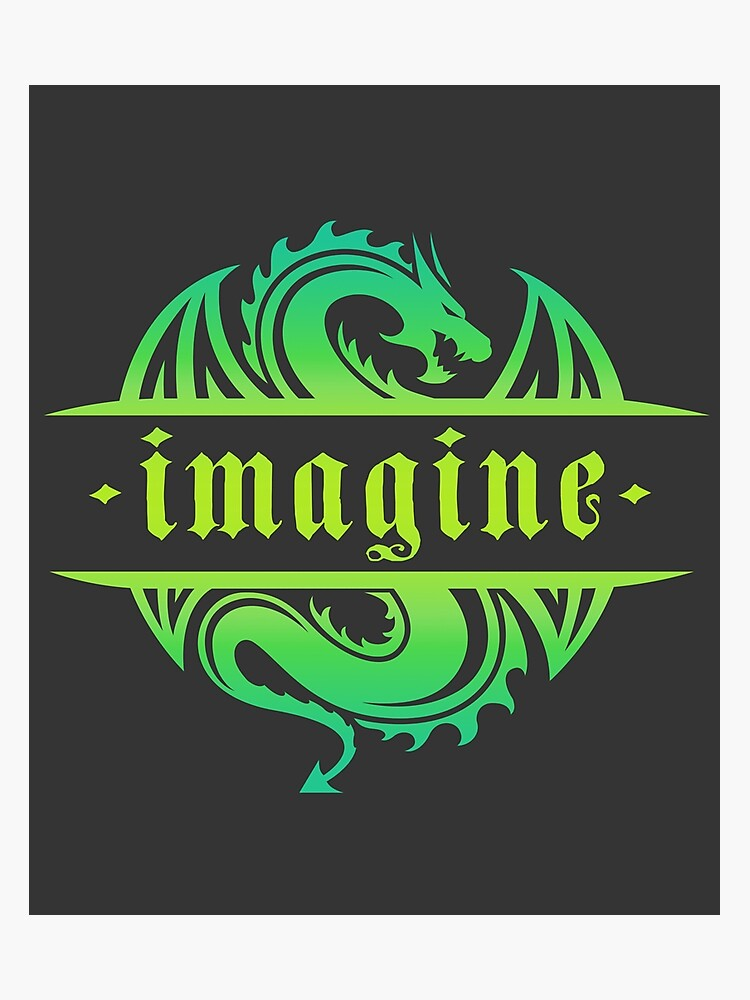 Imagine Fantasy Dragon Tattoo Style Design Photographic Print By