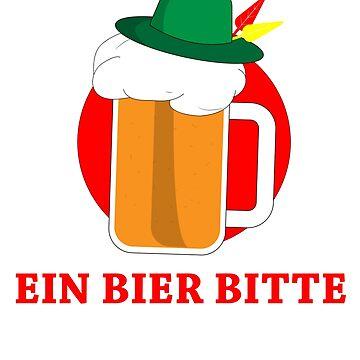 Ein Bier Bitte T-shirt by 3familyllc