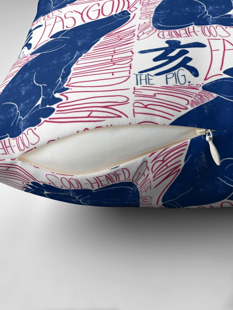 Alternate view of The Pig Chinese Zodiac Sign Throw Pillow