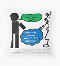 How do you see the world?  Throw Pillow