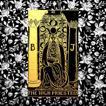 Floral Tarot Print - The High Priestess by annaleebeer