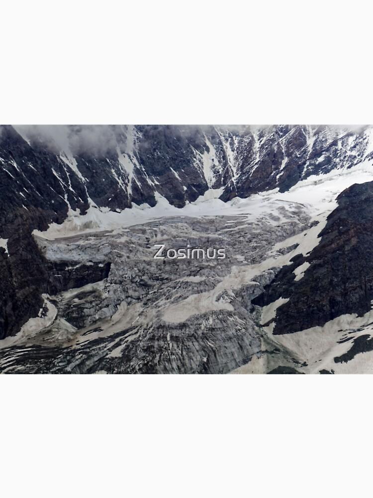 The Pasterze glacier in the Alps in Austria. by Zosimus