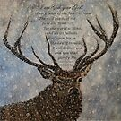 Stag in Snow - With Extracts from Psalm 50 by EuniceWilkie