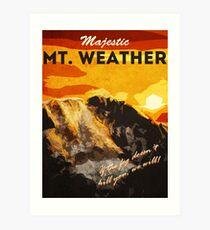 Lámina artística El 100 - Vintage Travel Poster (Mt. Tiempo)
