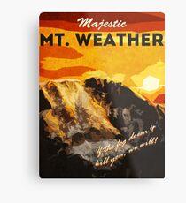 The 100 - Vintage Travel Poster (Mt. Weather) Metal Print