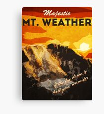 The 100 - Vintage Travel Poster (Mt. Weather) Canvas Print