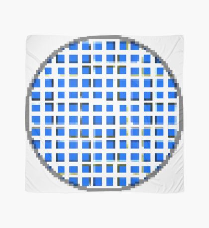 Pure Blue Dot Square 2 by RootCat Scarf