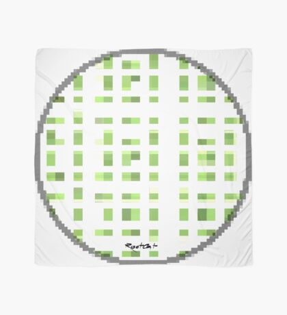 Another Green Dot Square by RootCat Scarf