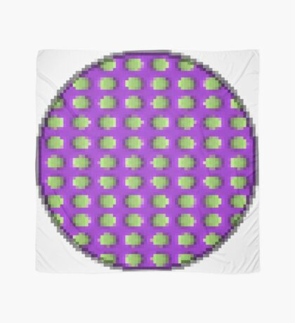 Green and Purple Dot Square by RootCat Scarf