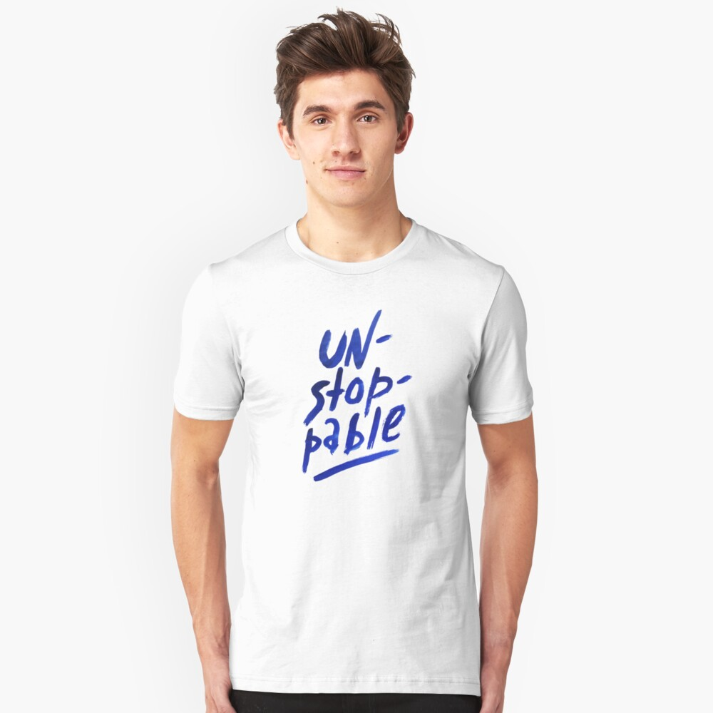 Unstoppable -  watercolor lettering Slim Fit T-Shirt