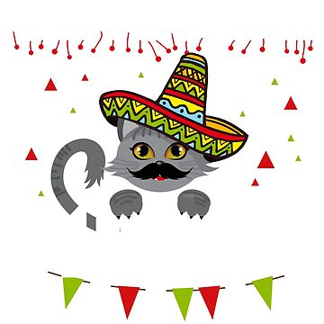 Cinco De Meow, Cinco De Mayo Cat by amorhka